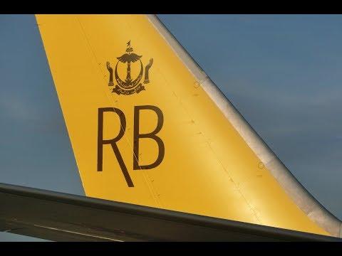 ロイヤルブルネイ航空 ブルネイ空港着陸シーン Royal Brunei Airlines Landing on Brunei International Airport