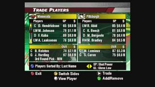 NHL 2004 Dynasty Mode-Getting Started