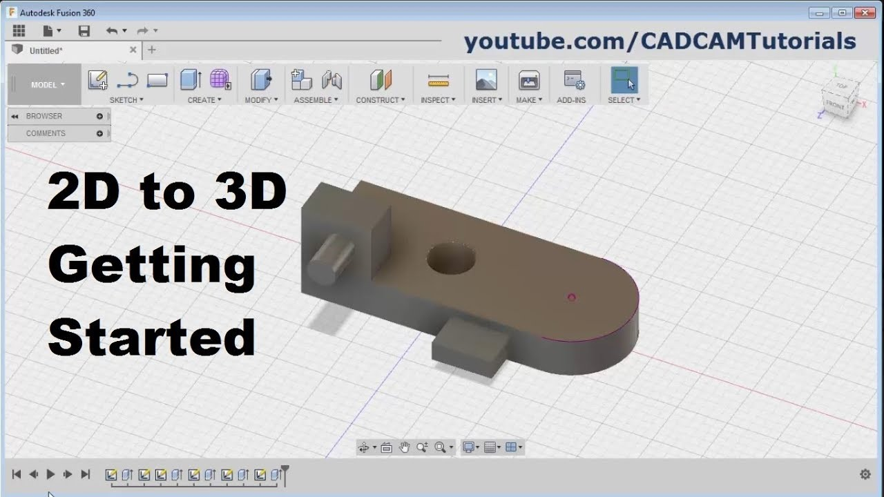 Fusion 360 Tutorial for Beginners - 2 | 2D to 3D Getting Started | Fusion  360 Basics Tutorial