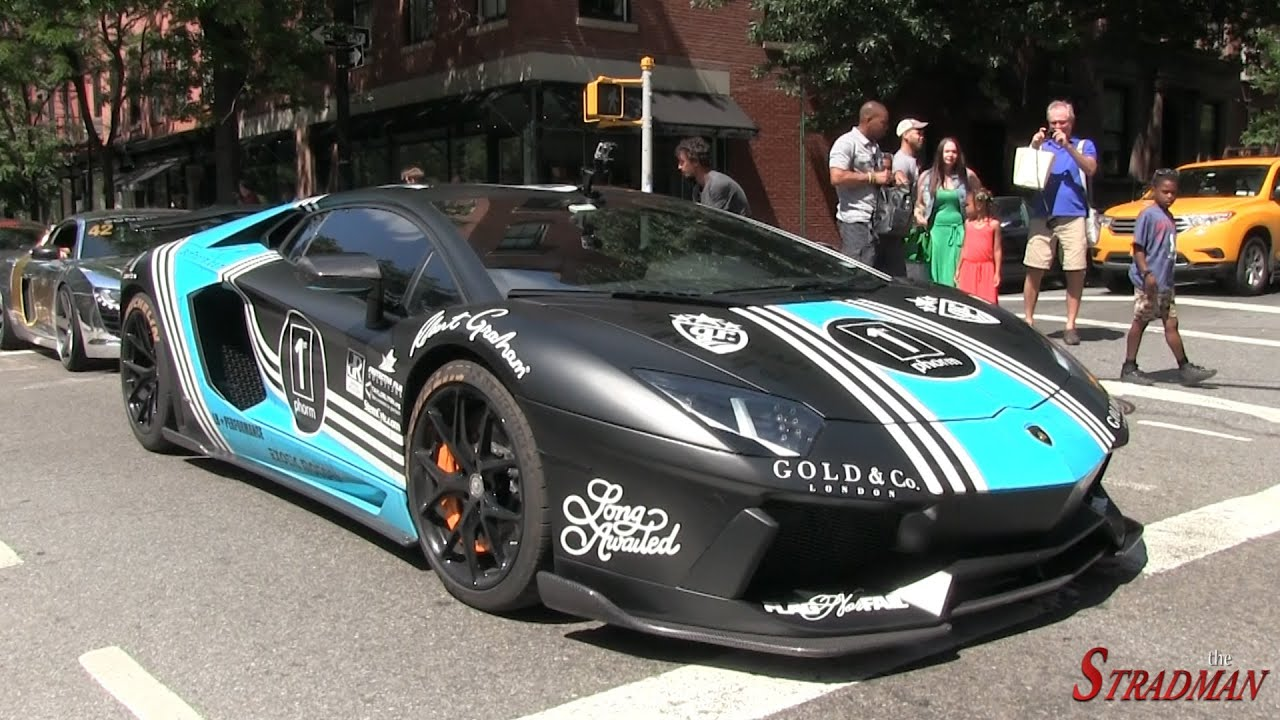Liberty Walk Lamborghini Aventador Loud REVS In New York City!   YouTube