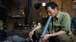 Smoking a water pipe in NORTH VIETNAM 2014.