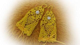 Ажурные митенки для карнавального костюма крючком. Crochet fingerless mittens / gloves tutorial