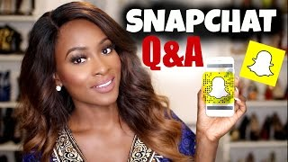 SNAPCHAT Q&A #1- MY SUMMER FLING, HOW MUCH I MAKE,  MARRIAGE, 10 YEAR GOALS & MORE!!