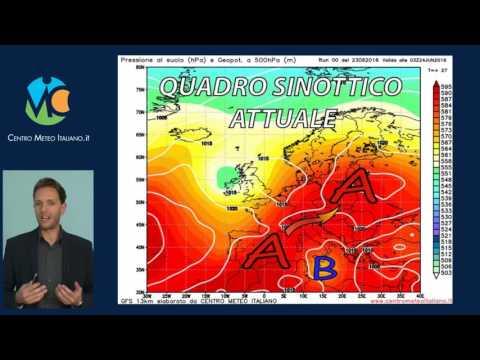 Previsioni meteo Italia, Weekend 24-26 Giugno 2016