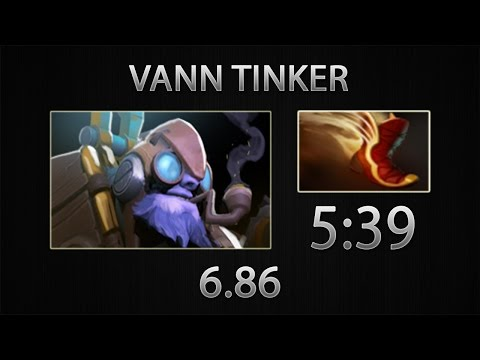 Dota 2 Tinker Fast Farm - vanN - Boots of Travel - 5:39 [6.86]