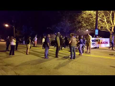 Anti-fa attack police officers at Georgia Tech riots 9/18/2017