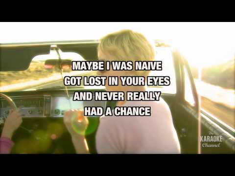 """White Horse in the Style of """"Taylor Swift"""" karaoke video with lyrics (no lead vocal)"""