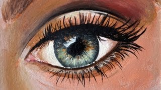 How to paint an eye with oil - Tutorial