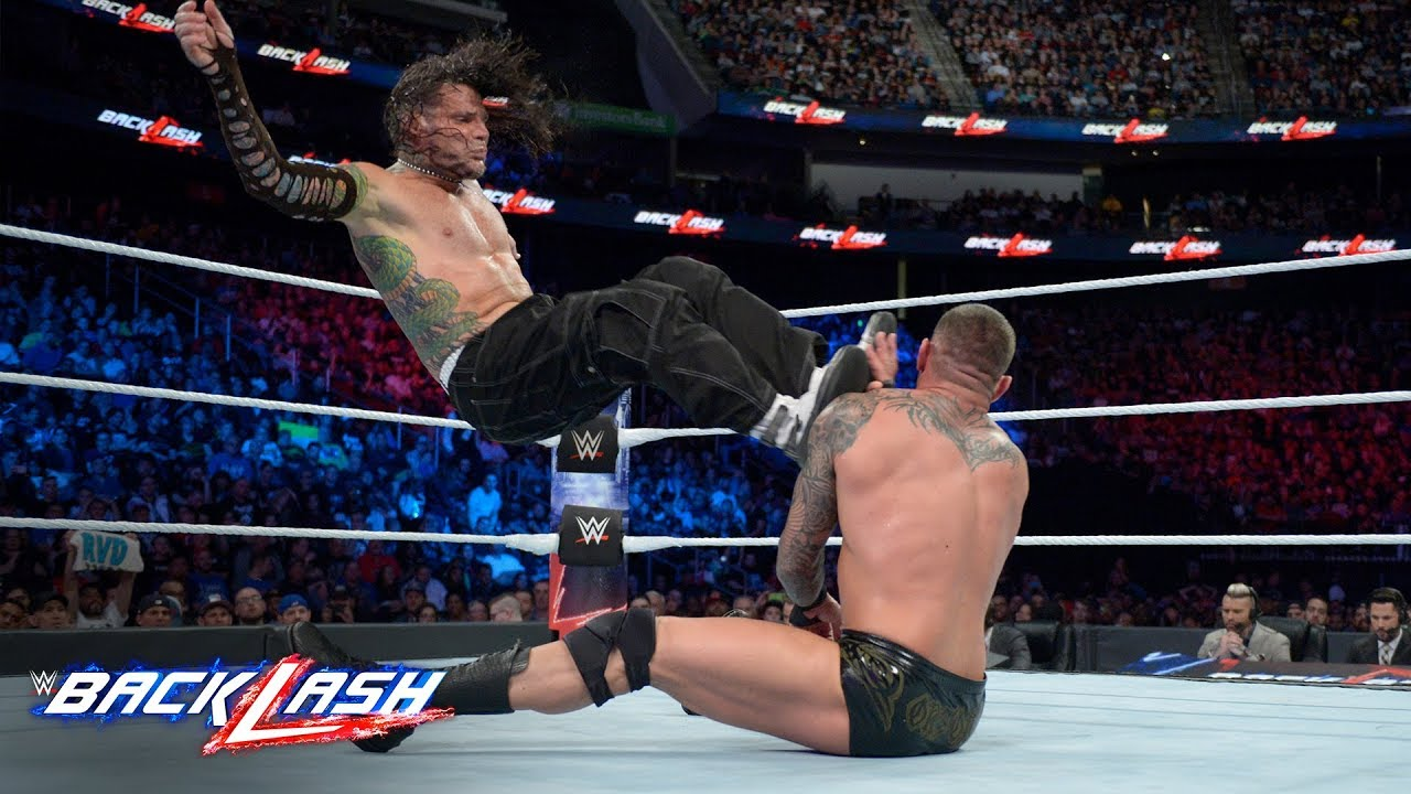 777ce0a0480d9e Jeff Hardy drops Randy Orton with a vicious flying kick  WWE Backlash 2018  (WWE Network Exclusive)