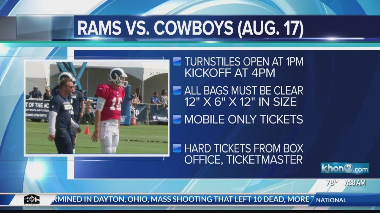 Los Angeles Rams and Dallas Cowboys preseason game tips
