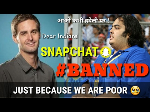 Snapchat CEO said app is not for 'poor countries like India'.