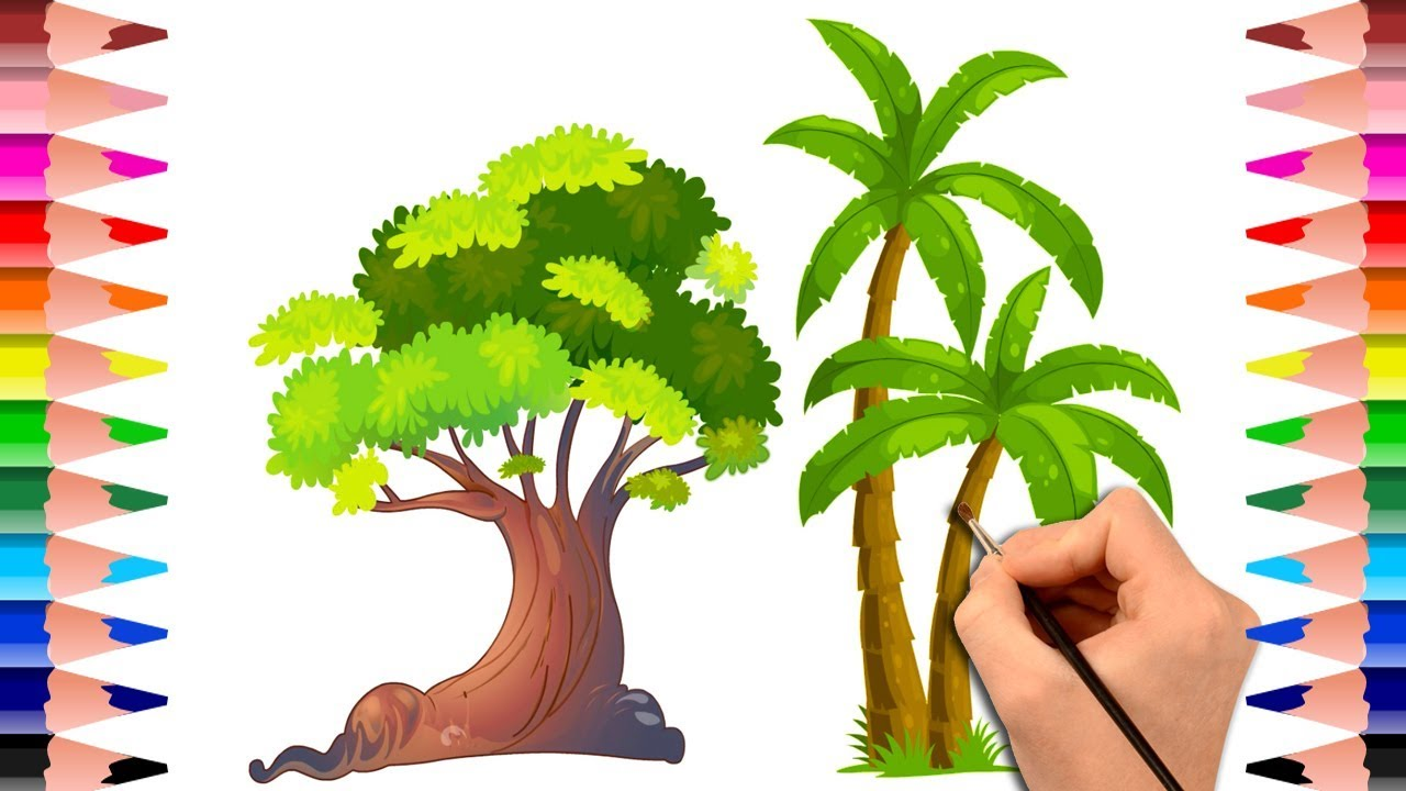 Learn How To Draw Trees And Plants Drawing Book For Kids