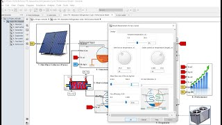Solar FPC | Absorption Air Conditioning | Water/LiBr | Matlab | Simulink | Performance Model