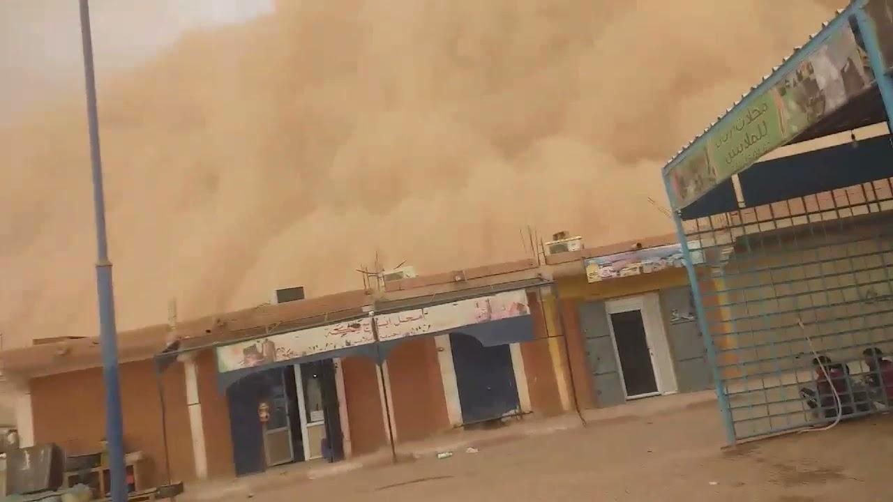 النقوية( العاصفة الرملية بالصحراء الجزائرية )عين قزام 2021