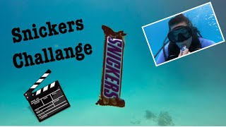 Snickers Challange - Eating underwater - Crazy Scuba Dive - Egypt  Chocolate in the Red Sea