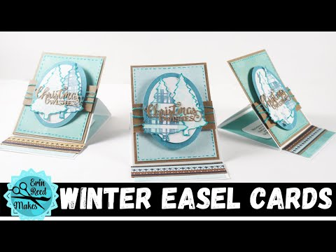LIVE Teal Christmas Fun Fold Easel Card - Card Making Wed Series #43