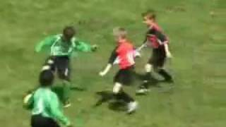 Little boys great football skills