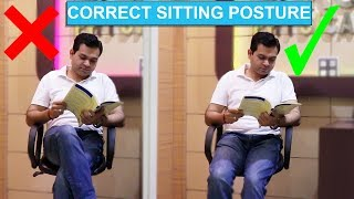 Cross Leg Sitting- DANGERS: DON'T cross your legs while sitting- HOW TO SIT CORRECTLY in Hindi