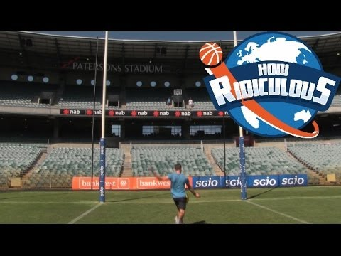AFL Football Trick Shots | How Ridiculous