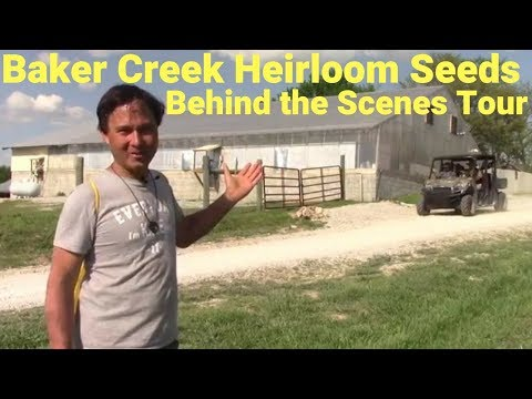 Behind the Scenes Warehouse & Greenhouse Tour at Baker Creek Heirloom Seeds
