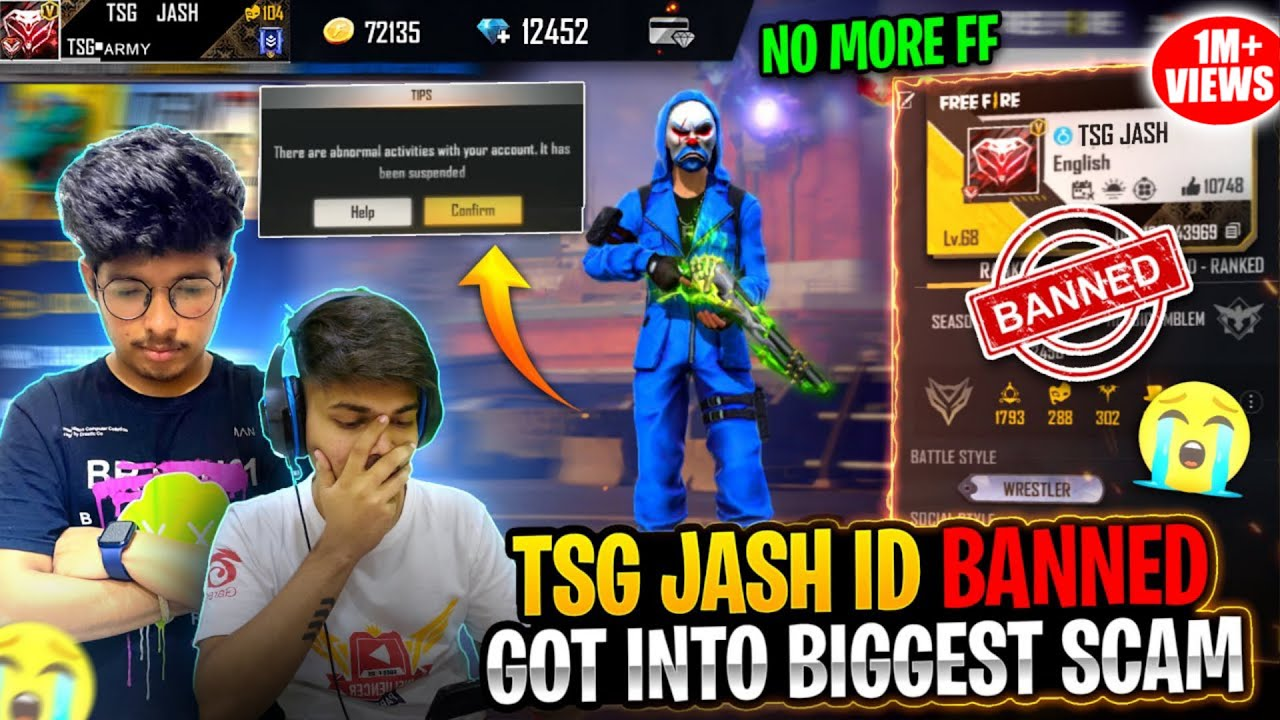Jash Free Fire Id Banned For Using Cheats || Biggest Mistake 😭 Bye - Garena Freefire