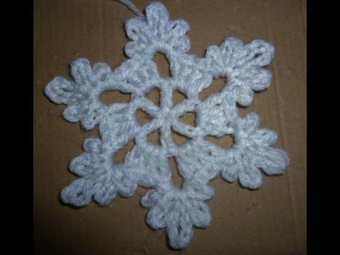 Schneeflocke Häkeln Eisblume Eiskristall Baumschmuck