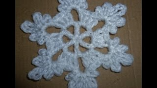 Schneeflocke häkeln - Eisblume - Eiskristall - Baumschmuck - Baumanhänger Stern - crochet - Anfänger