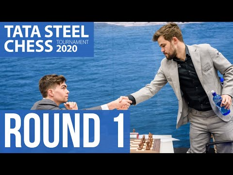Tata Steel Chess round 1 with GM Robert Hess and WIM Fiona Steil-Antoni