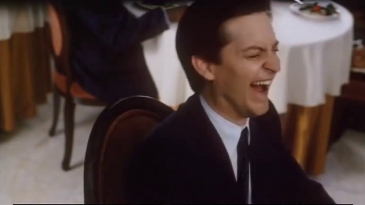Tobey Maguire Laughing Youtube
