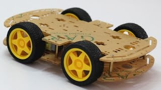 How to Assemble a 4WD Robot Smart Car Chassis Kits ( Part - I )