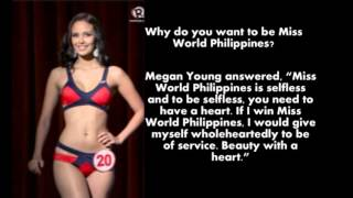 Megan Young Question and Answer | Miss World Philippines 2013