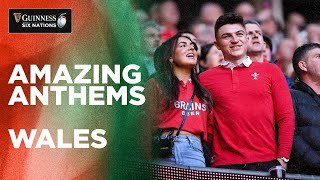 Welsh sing Mae Hen Wlad Fy Nhadau in front of a packed Principality! | Guinness Six Nations