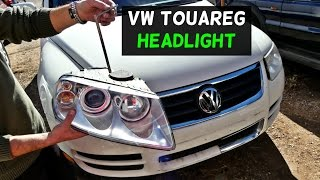 VW TOUAREG HEADLIGHT REMOVAL REPLACEMENT 2002 2003 2004 2005 2006 2007 2008 2009