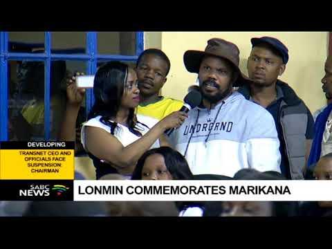 Lonmin commemorates Marikana