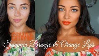 GRWM: Summer Bronze & Orange Lips ♡ Thumbnail