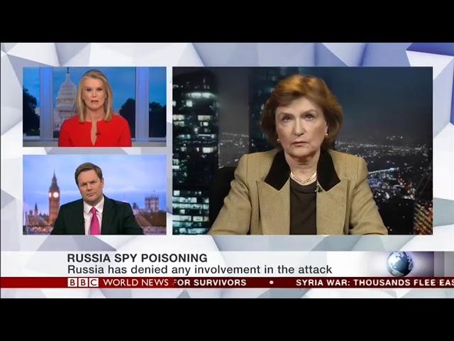 Наталия Нарочницкая в эфире канала BBC, передача 'Beyond 100 Days', 15 марта 2018 года