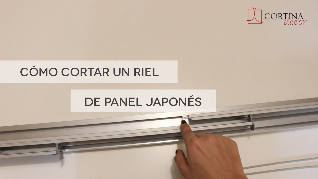 C mo cortar un riel de panel japon s youtube - Como colocar panel japones ...