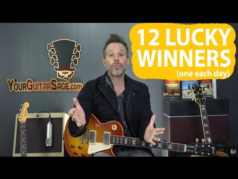 12 Guitar Pack Winners in 12 Days TILL Christmas Giveaway