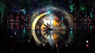 The Enchanted Forest 2019 beautiful illumination show 'Cosmos' in Scottish Woodland near Pitlochry