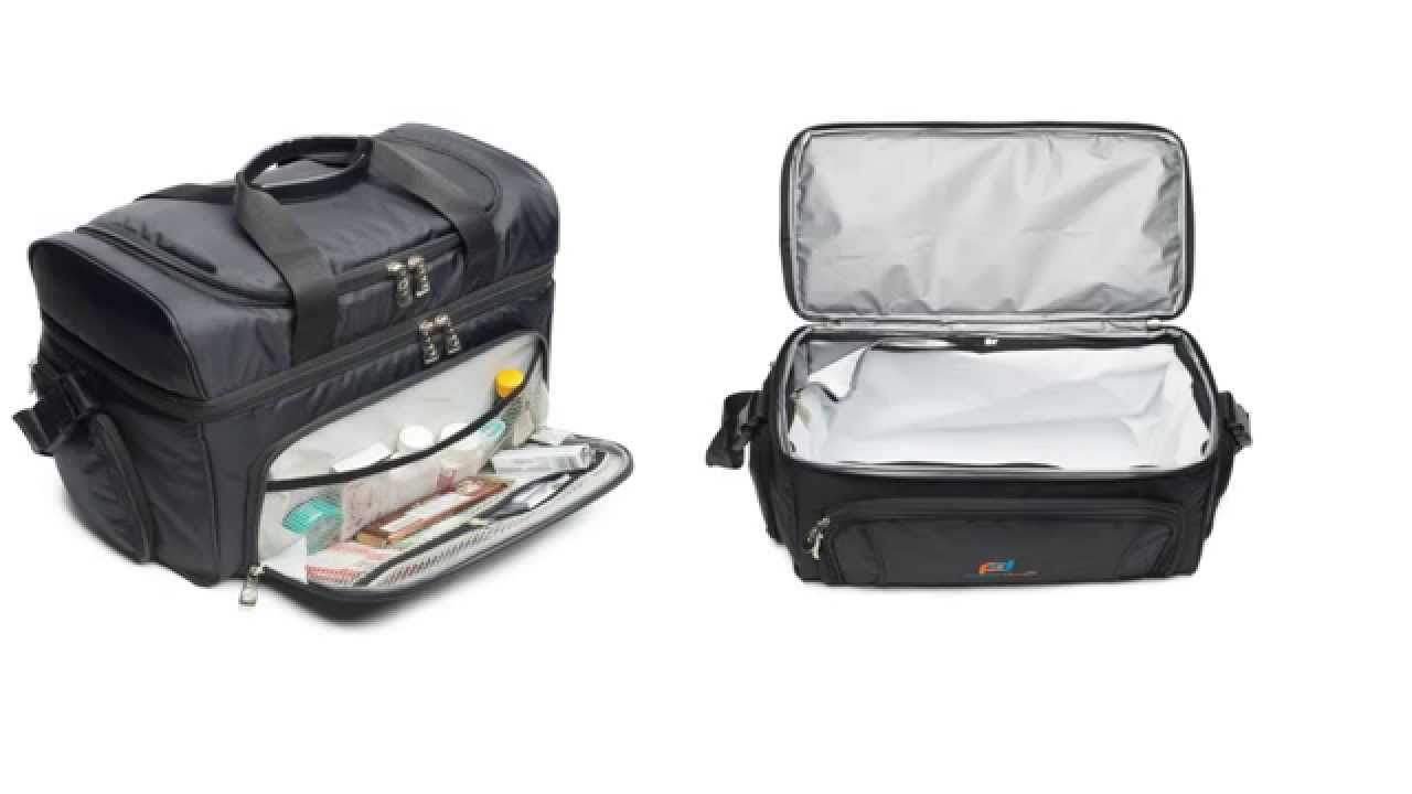 935ef1f10d1d Lunch box cooler bag with padded shoulder strap,double zipper and many  storage compartments