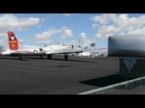 B-17 Aluminum Overcast start up and taxi 4/2/2017 Reno, NV