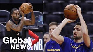 NBA Finals: Raptors, Warriors hold practice ahead of Game 5