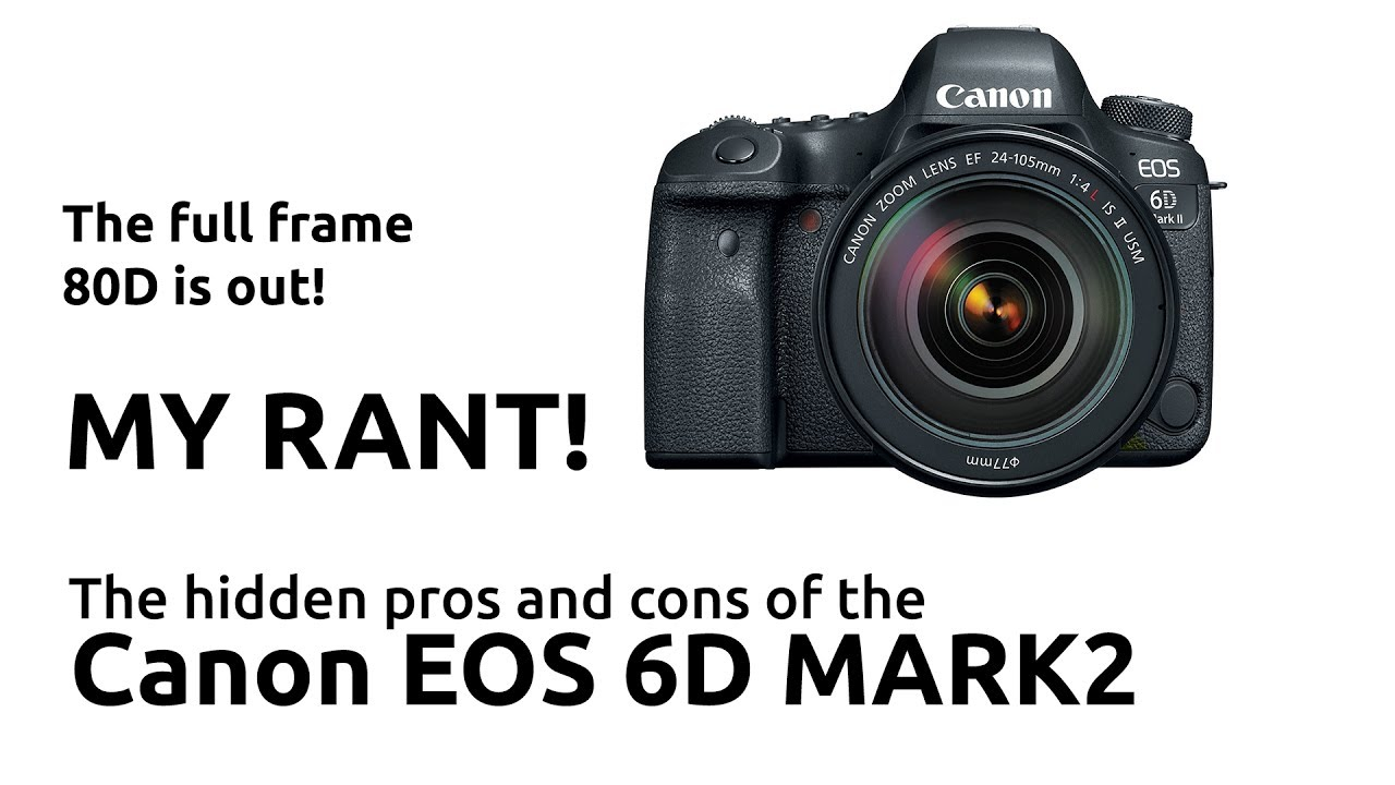 THE CANON EOS 6D MARK 2 AND THE HIDDEN PROS AND CONS OF THIS ENTRY ...