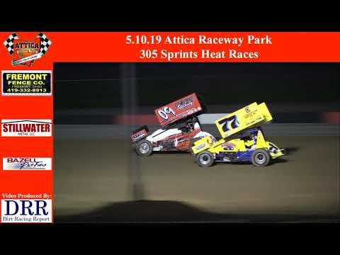 5.10.19 Attica Raceway Park 305 Sprints Heat Races