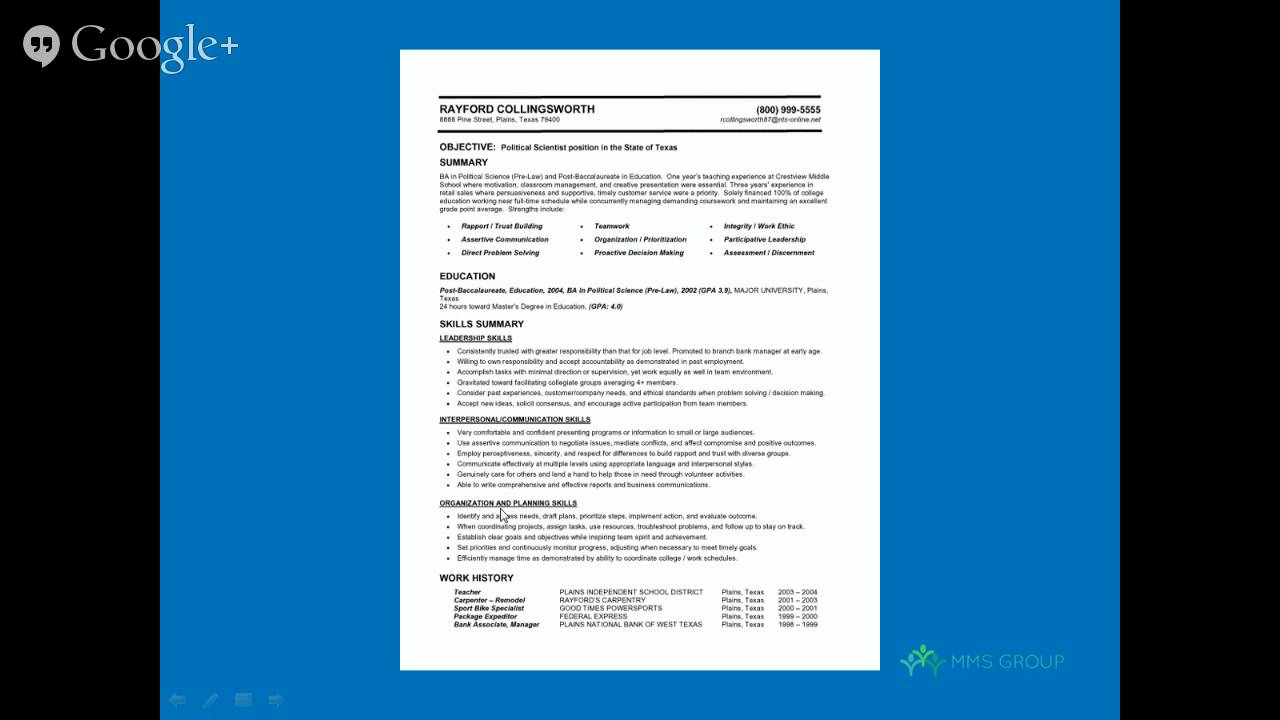 Functional Resume Samples | Quick Study