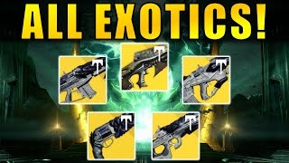 Destiny: ALL CROTA'S END EXOTICS! | Age of Triumph