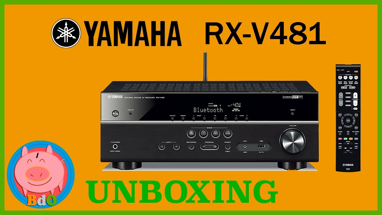 yamaha rx v481 unboxing receptor av 5 1 spotify airplay youtube. Black Bedroom Furniture Sets. Home Design Ideas