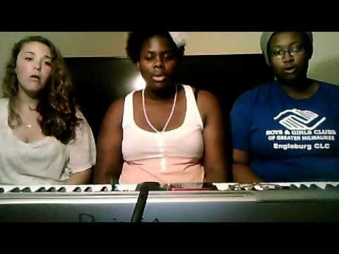 Chelsea, Quincy and Angie Singing Take Rest