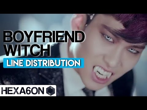 Boyfriend - Witch Line Distribution (Color Coded)