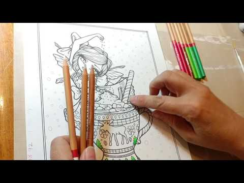 Coloring Page Color Along - Whimsy Girl... Part 1